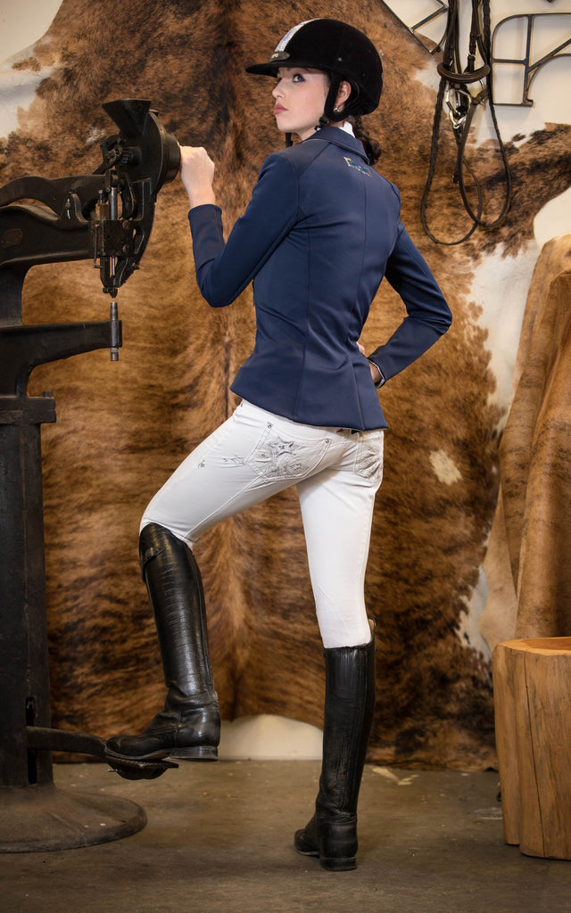 2KGrey Avatar Knee Patch Breeches - Saratoga Saddlery