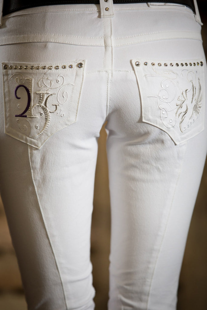 2KGrey Pas Knee Patch Breeches Great for POLO Free Shipping! - Saratoga Saddlery