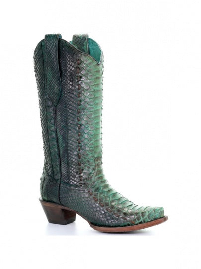 Corral Women's Turquoise Python Boots A3661