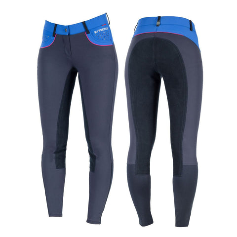 Ariat Olympia Women's Low Rise FZ Kneepatch Breeches in Navy