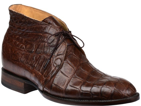 Lucchese Men's Evan Chukka Boot - Chocolate Giant Gator (GY8002)