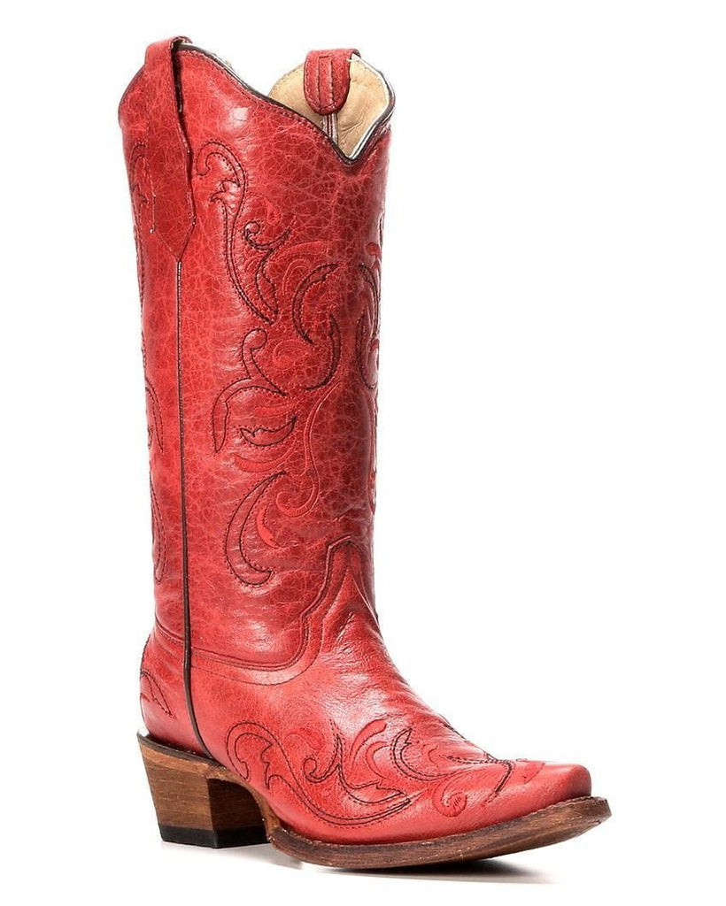 Corral Women's Red Cowboy Boot L5129 - Saratoga Saddlery & International Boutiques