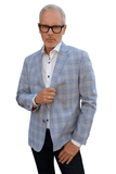 7 Downie St. Daniel Light Blue Tartan Blazer Sports Coat - Saratoga Saddlery & International Boutiques