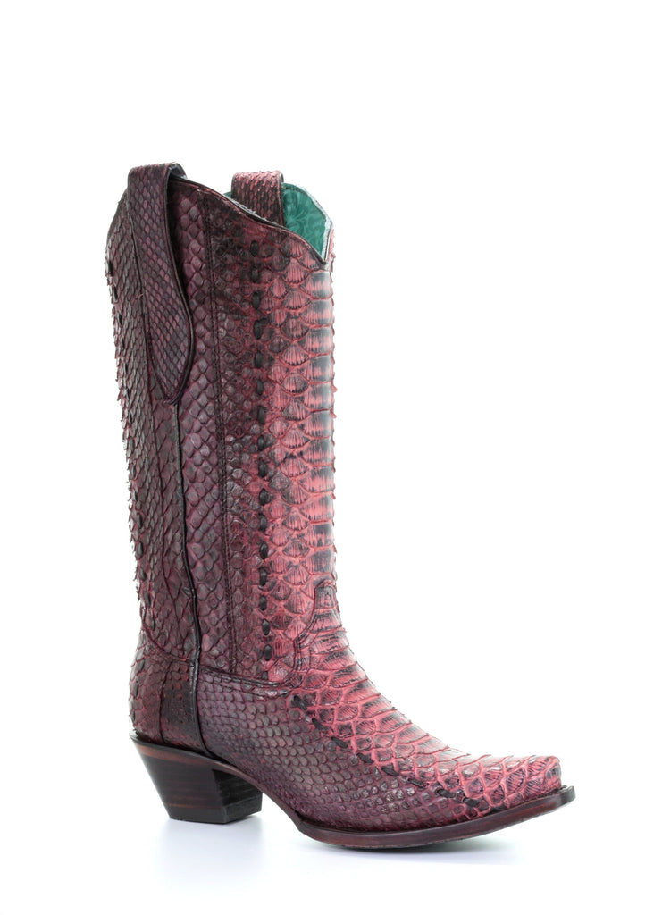Corral Women's Red Python Boots A3660