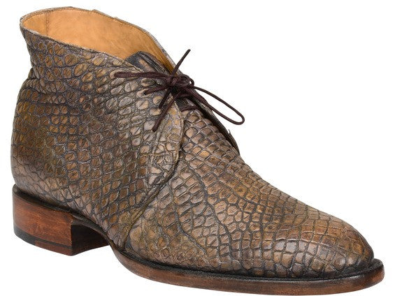 Lucchese Men's Evan Chukka Boot - Stonewash Tan Giant Gator (BL2100)