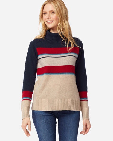 Pendleton Camp Stripe Wool Turtleneck - Saratoga Saddlery & International Boutiques