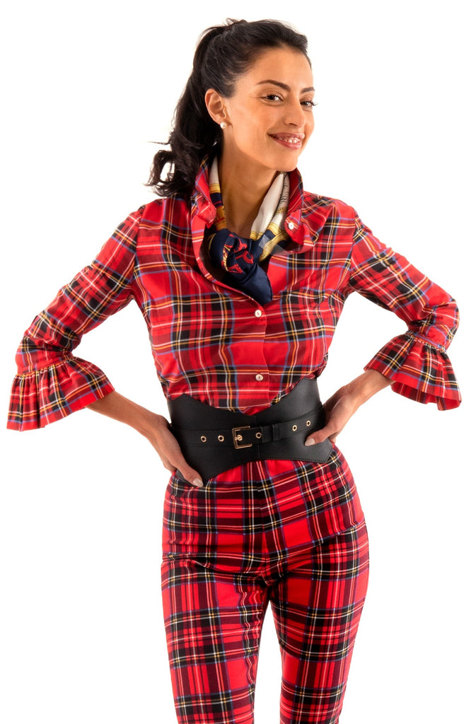 Gretchen Scott Priss Blouse Duke of York in Red - Saratoga Saddlery & International Boutiques