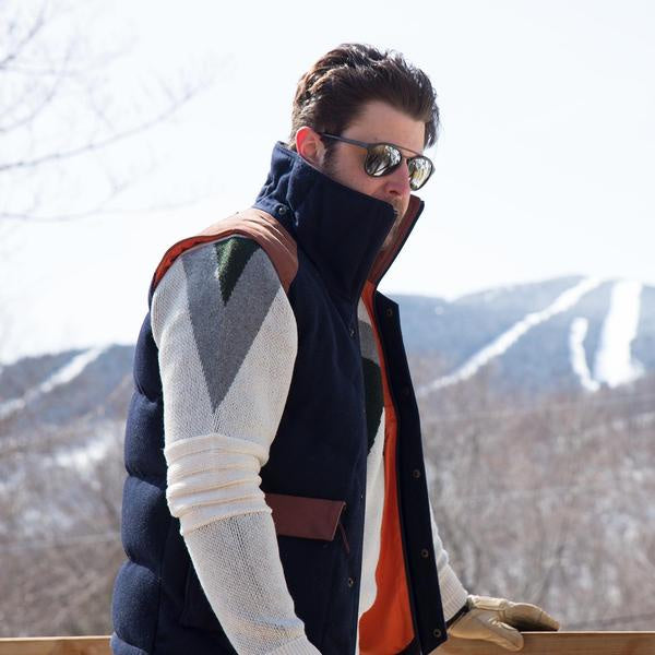 Alps & Meters Alpine Hooded Vest in Navy ON SALE NOW! - Saratoga Saddlery & International Boutiques