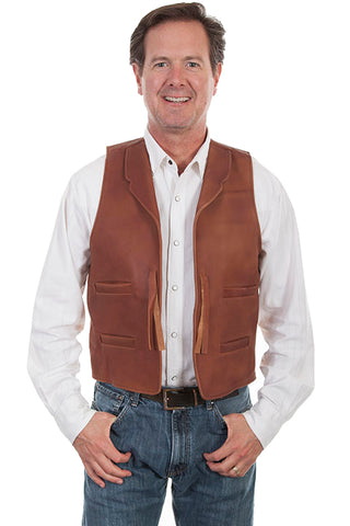 Scully Men's Lambskin Vest - Chocolate Brown