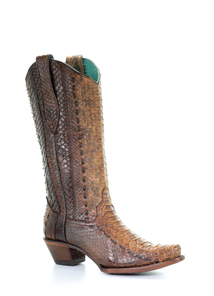 Corral Women's Tan Python Boots A3659