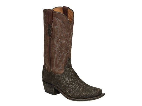 Lucchese Men's Carl Shark Leather Boot in Brown M3197