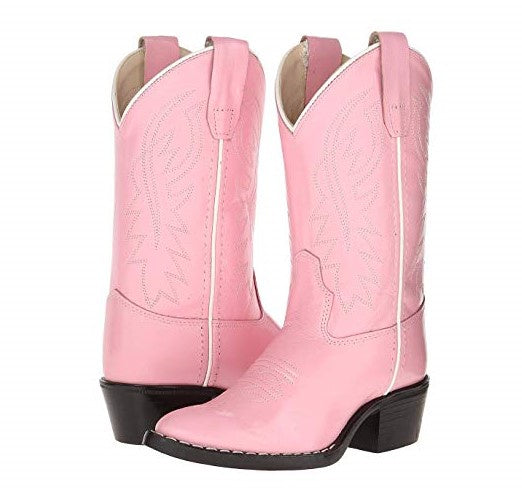 Old West Kids Cowgirl Boot 8119 in Pink - Saratoga Saddlery & International Boutiques