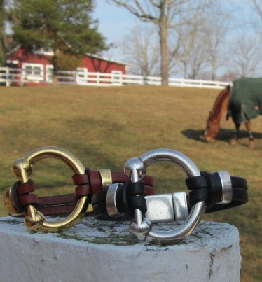 Vagabond House Equestrian Horseshoe Dbl Old Fashioned Glass H407-EH