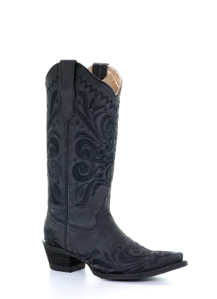 Circle G by Corral Women's Black Filigree Embroidery Boots L5433 - Saratoga Saddlery & International Boutiques