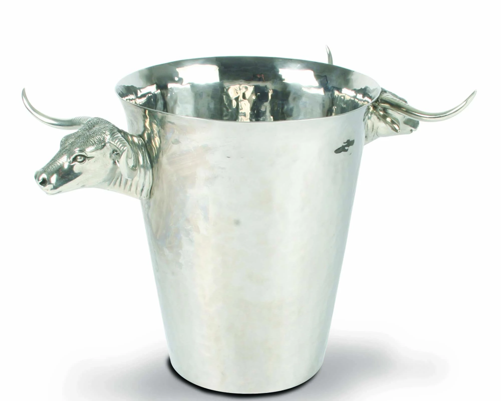 Vagabond House Steel Ice Bucket with Long Horn Steer Handles - Saratoga Saddlery & International Boutiques