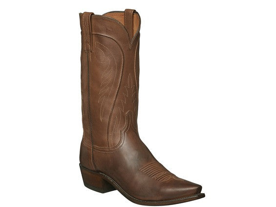 Lucchese Men's Bart Cowhide and Leather Boot in Brown N1596