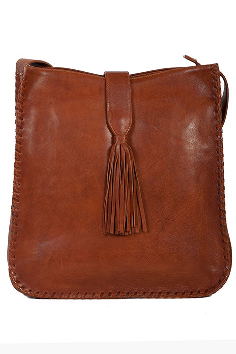 Scully B179 Lamb Leather Whip Stitch Handbag