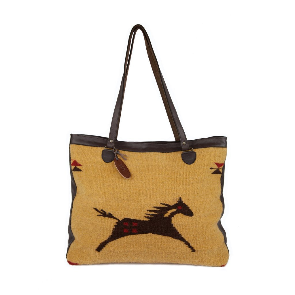 MZ Fair Trade Wild Horse Wool Shoulder Bag 13-3010 - Saratoga Saddlery & International Boutiques