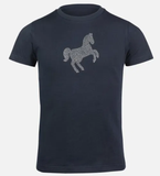 Horze Harper Kids T-Shirt in Navy 33490 - Saratoga Saddlery & International Boutiques