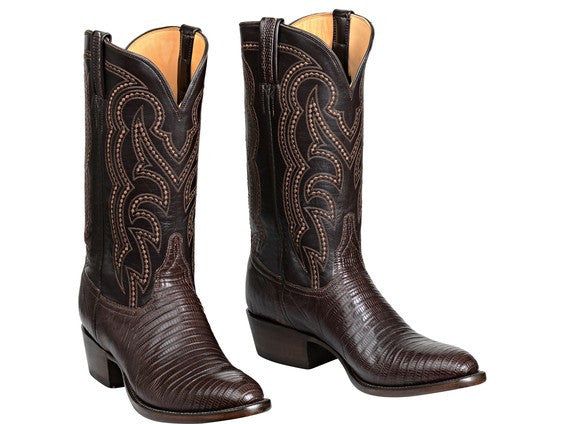 Lucchese Men's Kip Boot GY1035 - Cigar + Dark Brown
