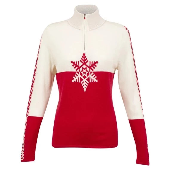 Krimson Klover Marta Sweater Chinese Red - Saratoga Saddlery & International Boutiques