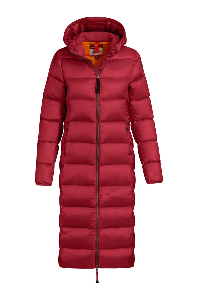 Parajumpers Leah Womens Long Jacket Scarlet - Saratoga Saddlery & International Boutiques