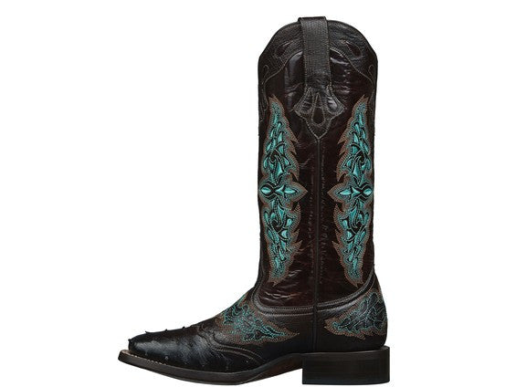 Lucchese Women's Amberlyn Ostrich Boot M4883 - Chocolate