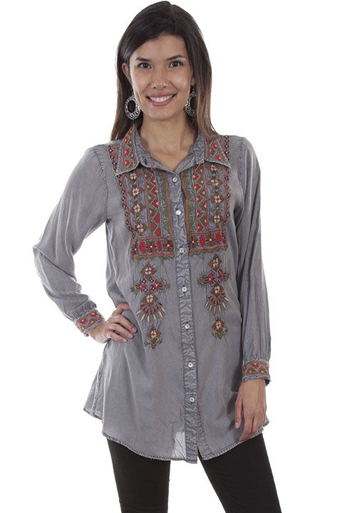 Scully HC502 Embroidered Blouse - Saratoga Saddlery & International Boutiques