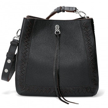 Brighton Handbag Georgia Convertible BLACK Hobo From the Interlok Collection H36523 - Saratoga Saddlery & International Boutiques