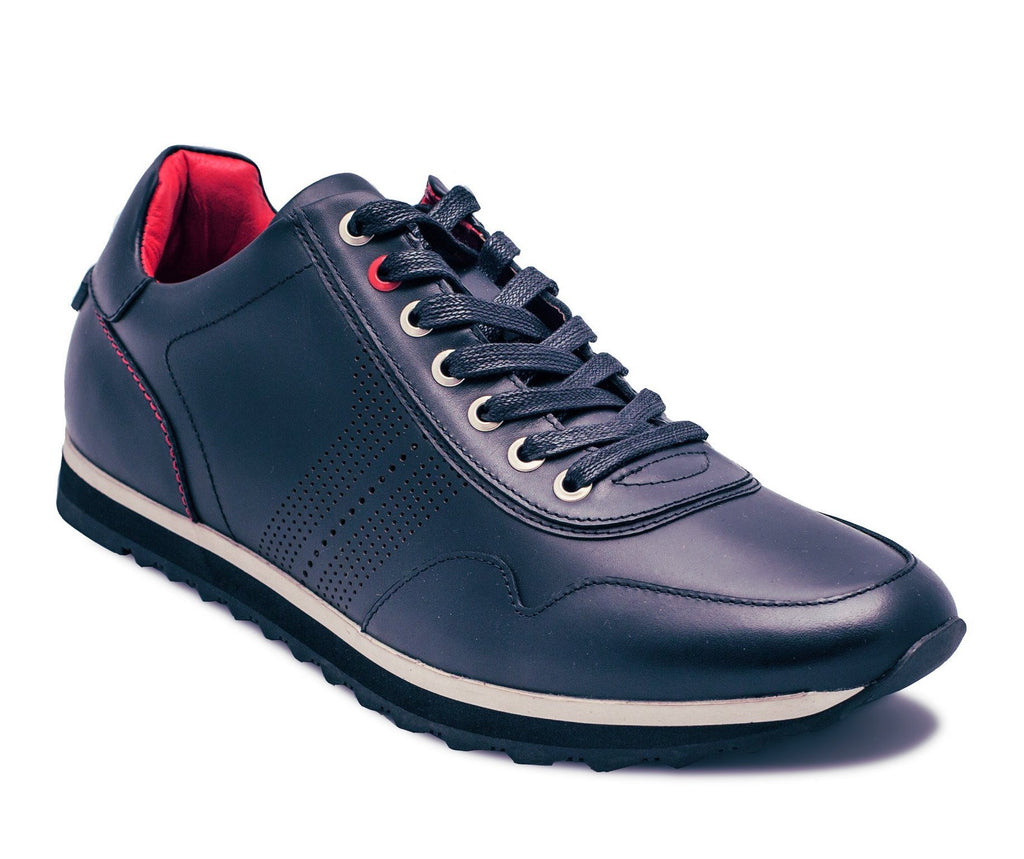 Au Noir James Leather Sneakers - Saratoga Saddlery & International Boutiques