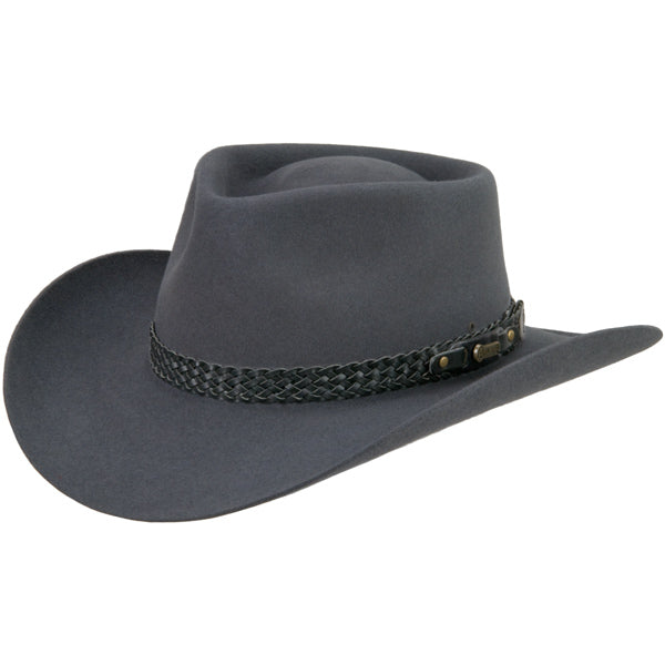 Akubra Snowy River Felt Hat Made in Australia - Saratoga Saddlery & International Boutiques