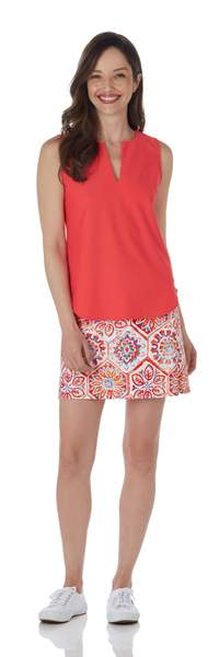 Jude Connally Ali Top in Deep Coral SALE! - Saratoga Saddlery & International Boutiques