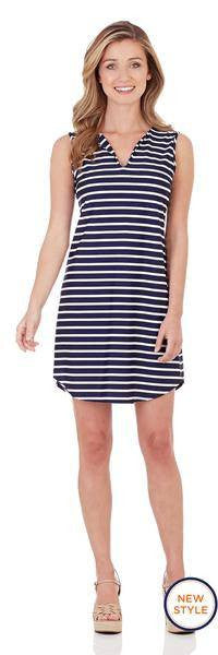 Jude Connally Alison Shift Dress in Classic Stripe Navy White - FINAL SALE