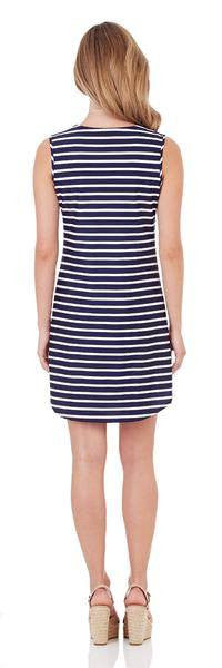 Jude Connally Allison Shift Dress in Classic Stripe Navy White