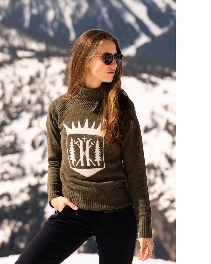 Alps & Meters Ski Race Knit Monarch Sweater ON SALE NOW! - Saratoga Saddlery & International Boutiques