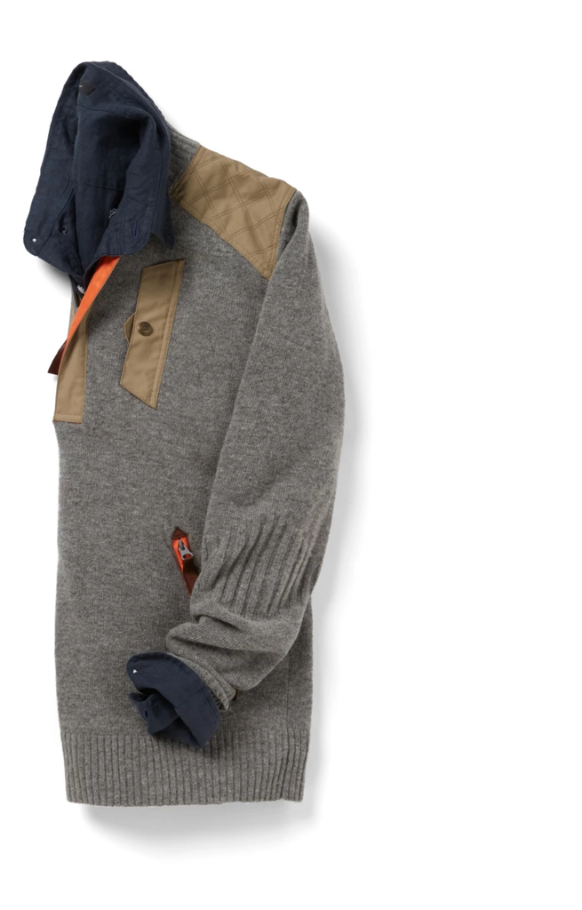 Alps & Meters Alpine Guide Men's Sweater Grey - Saratoga Saddlery & International Boutiques
