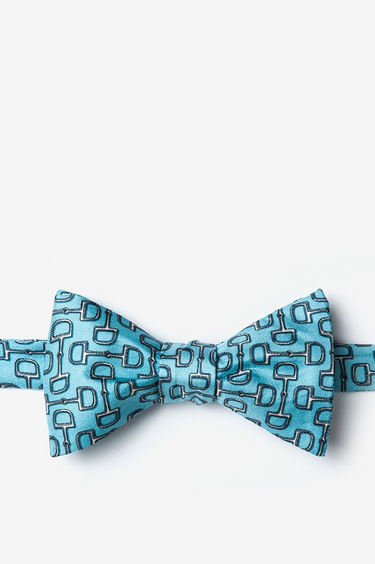 Alynn Silk Bow Tie - Bit By Bit - Blue