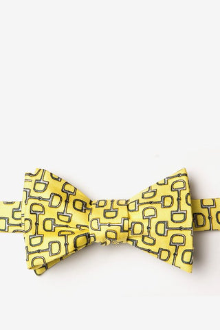 Alynn Men's Silk Tie - Bringing Up The Rear - Yellow