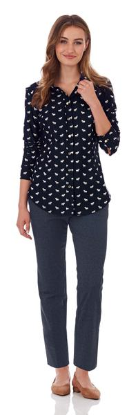 Jude Connally Amanda Shirt in Jack Jack Navy