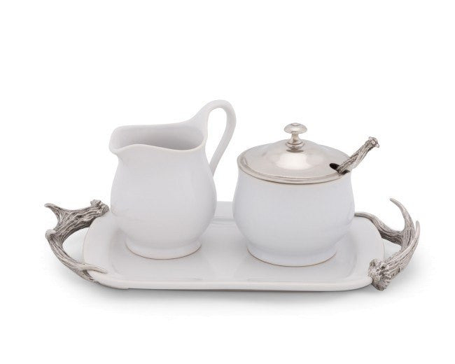 Vagabond House Antler Sugar and Creamer Set