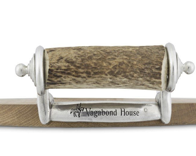 Vagabond House Antler Handle Wood Cheese Tray