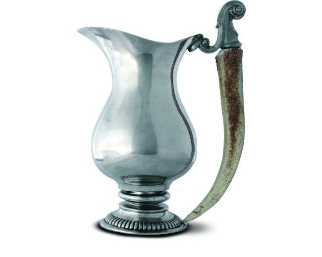 Vagabond House Pewter Pitcher with Genuine Antler Handle