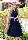 Jude Connally Ashlyn Midi Dress in Navy
