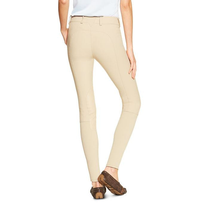 Ariat Olympia Women's Side Zip Low Rise Breeches in Tan - Saratoga Saddlery & International Boutiques