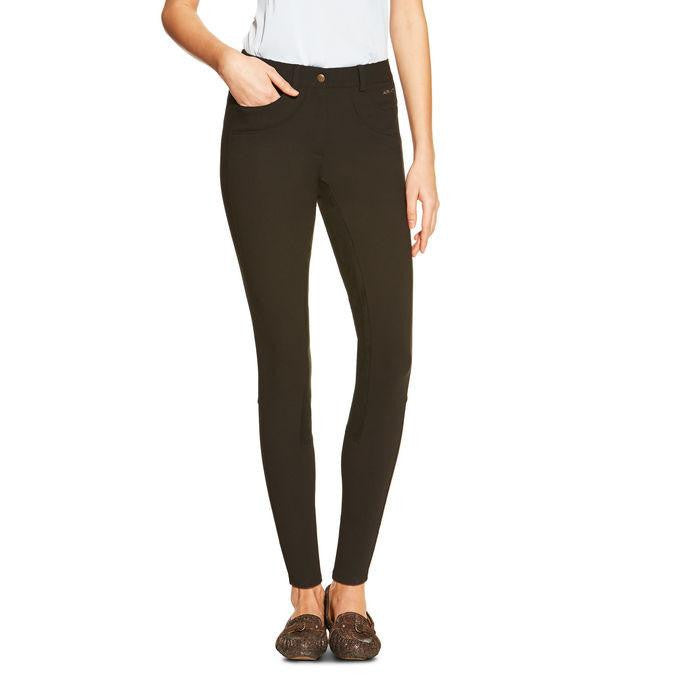 Ariat Olympia Women's Regular Rise FZ Full Seat Breeches in Black - Saratoga Saddlery