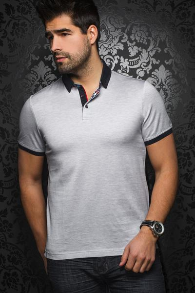 Au Noir Andrew Men's Polo shirt in Silver