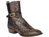 Lucchese Men's Crosby Giant Gator Boot BL1801 - Tan + Pearl Bone
