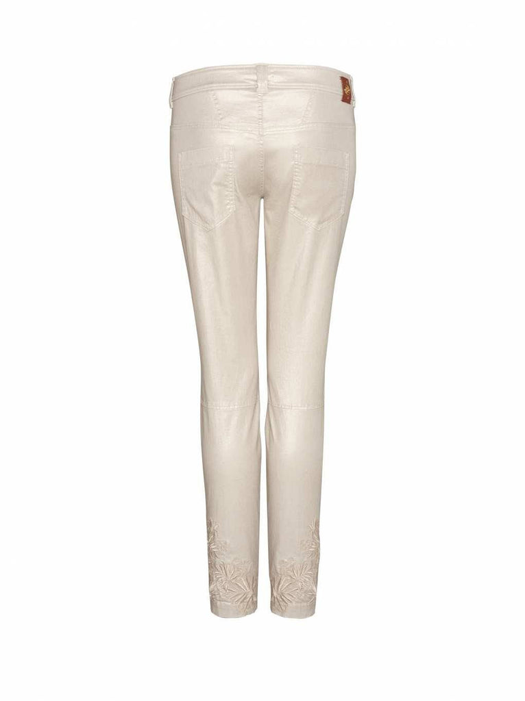 Bogner Women's Laguna Golf Pants in Metallic Champagne - Saratoga Saddlery & International Boutiques