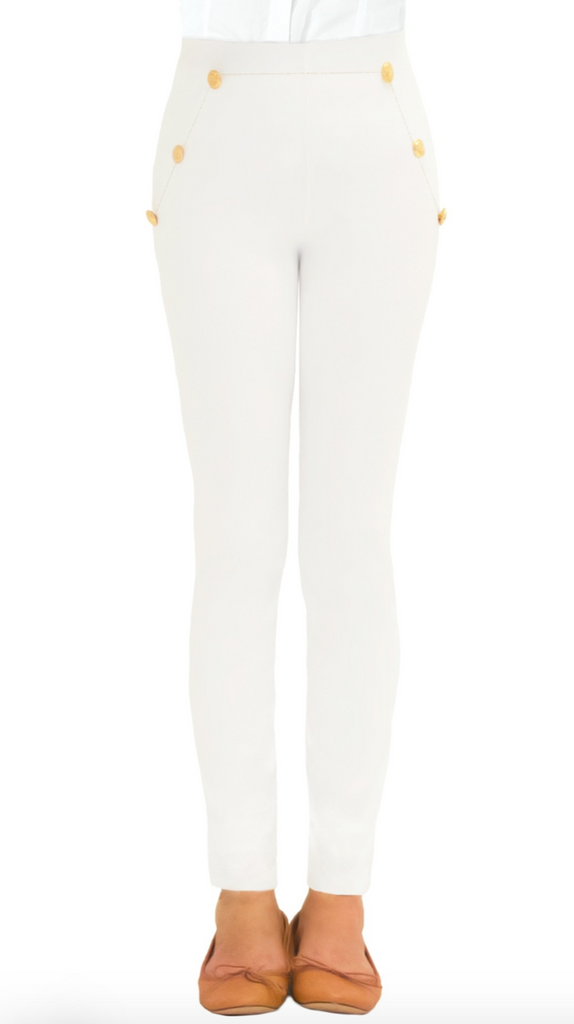 Gretchen Scott Sailor Jeans in White - Saratoga Saddlery & International Boutiques
