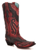 Corral Womens Red & Black Studded Cowgirl Boots C3352 - Saratoga Saddlery & International Boutiques